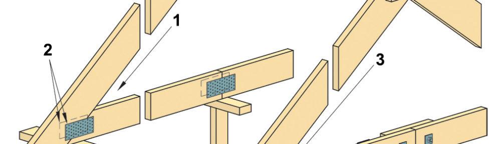 Конструкции узлов деревянных стропильных ферм крыши