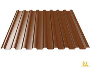Профнастил С-20 коричневый