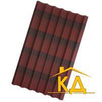 Черепица ондулин цвет красный 1950x960